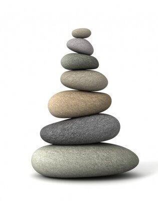 Adesivo equilíbrio pedras