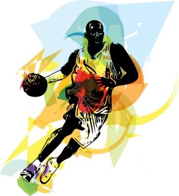 Adesivo Esboço do jogador de basquete