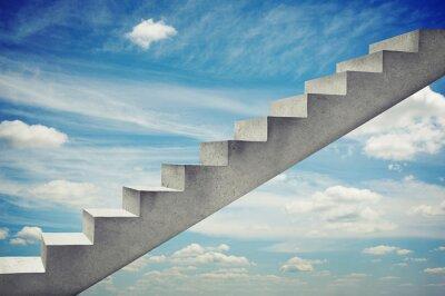 Adesivo escadas de concreto sobre o céu azul