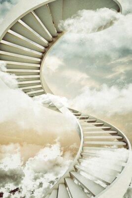 Adesivo escadas em espiral