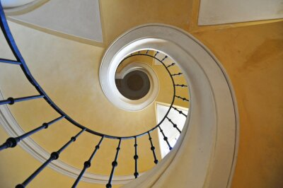 Adesivo Espiral, escadarias, arquitetônico, elemento, histórico, predios