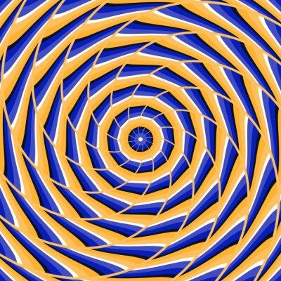 Adesivo Espiral torcendo para o centro. Fundo abstrato da ilusão ótica do vetor.