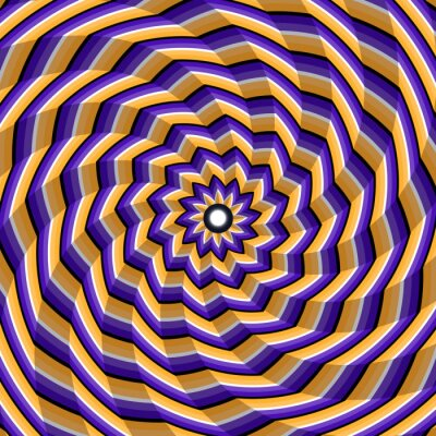 Adesivo Espiralado facetado torcendo para o centro. Fundo abstrato da ilusão ótica do vetor.