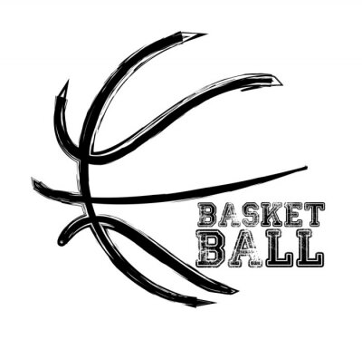 Adesivo esporte de basquete