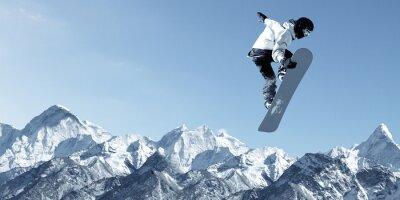Adesivo Esporte Snowboarding