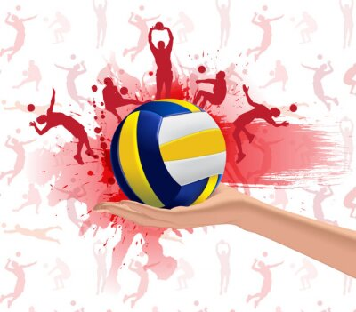 Adesivo Esporte Voleibol projeto do fundo