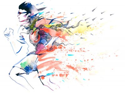 Adesivo esportes running