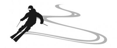 Adesivo esquiador