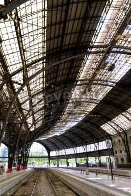 Adesivo Estação ferroviária interessante dentro foto