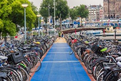 Adesivo Estacionamento para bicicletas em Amsterdam