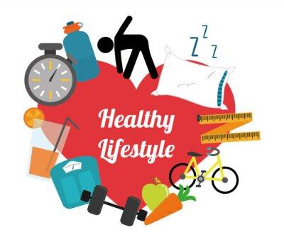 Adesivo estilo de vida saudável
