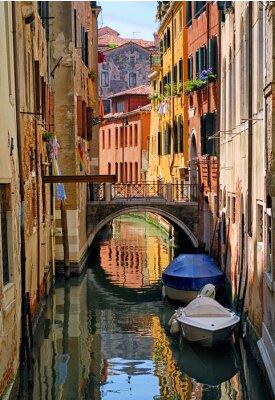 Adesivo Estreito, canal, rua, Veneza, Itália