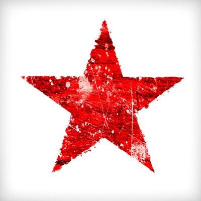 Adesivo Estrela abstrata em um fundo branco