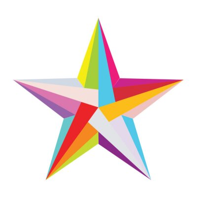 Adesivo estrela colorida