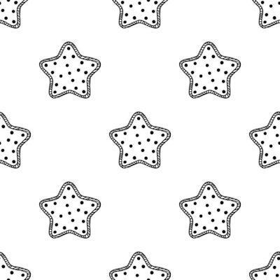 Adesivo Estrelas de madeira padrão 2