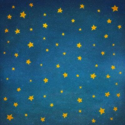 Adesivo Estrelas, noturna, céu, fundo, ilustração, arte