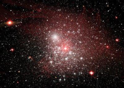 Adesivo Estrelas, poeira e nebulosa de gás em uma galáxia distante