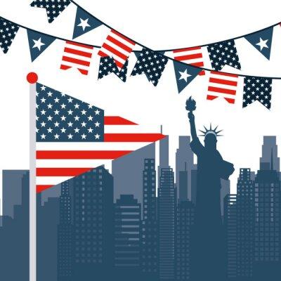 Adesivo EUA emblema