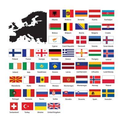 Adesivo Europe flags