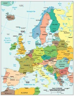 Adesivo Europe political divisions