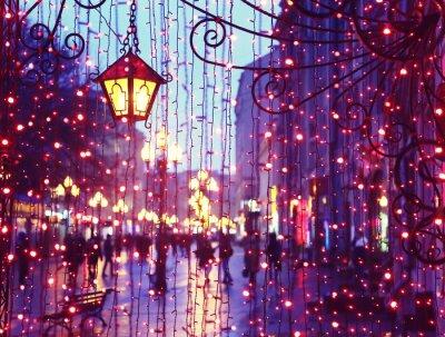 Adesivo Evening Avenue com luzes