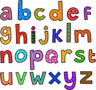 Adesivo Excêntrico Minúsculas Alfabeto