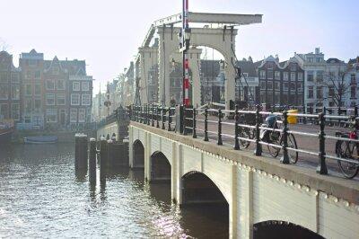 Adesivo Famoso Skinny Bridge, Amsterdam