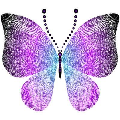 Adesivo Fantasia sujo borboleta do vintage