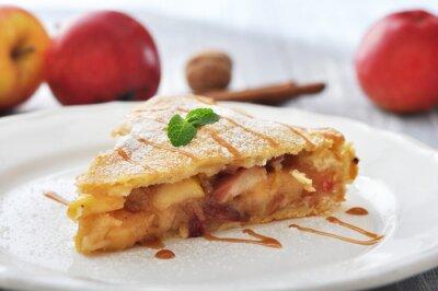 Adesivo Fatia de torta de maçã caseira