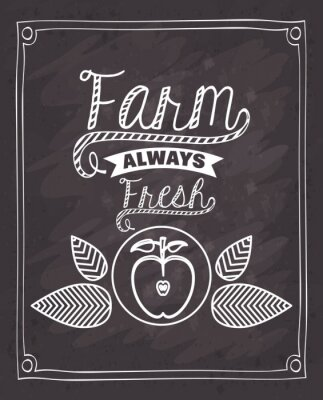 Adesivo Fazenda, fresco, alimento, desenho