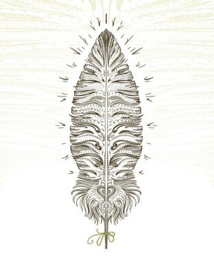 Adesivo Feather ornamental symbol