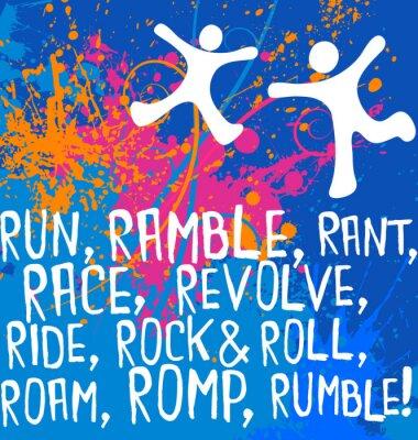 Adesivo figuras ativas texto motivacional série poster de fitness