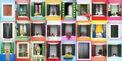 Adesivo Finestre di colorate Burano