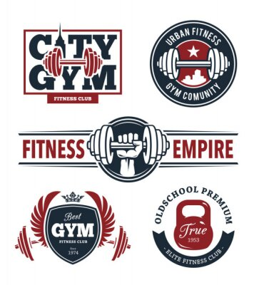 Adesivo Fitness Emblems Set