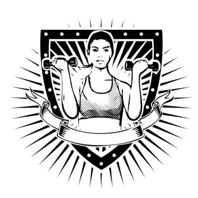 Adesivo fitness woman shield