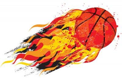 Adesivo Flaming Basketball