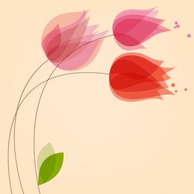 Adesivo Floral, fundo, com, tulips