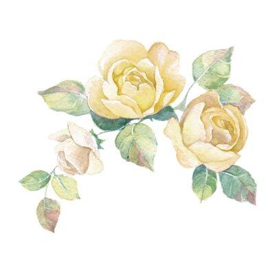 Adesivo Floral ramo 2 em vetor