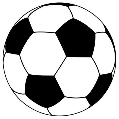 Adesivo fooball preto-branco - ilustração do vetor simples