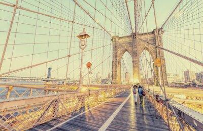 Adesivo Foto do vintage da ponte de Brooklyn em New York City