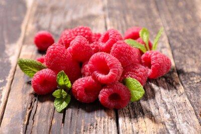 Adesivo Framboesa, fruta, folha