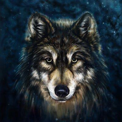 Adesivo frente lobo