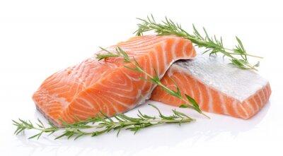 Adesivo Fresh raw salmon fillet with herbs