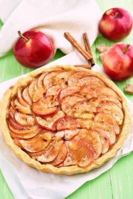 Adesivo Fruta, maçã, torta, assando, papel