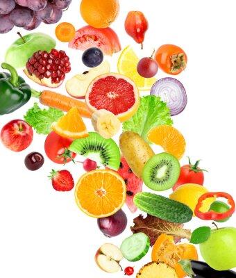 Adesivo Frutas e vegetais
