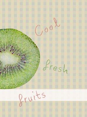 Adesivo Frutas tema de fundo
