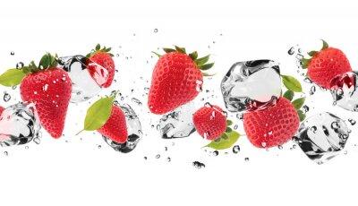 Adesivo Fruto de gelo no fundo branco