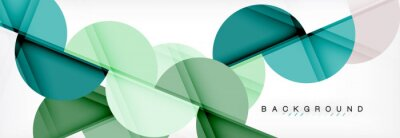 Adesivo Fundo abstrato geométrico moderno - círculos. Modelo de design de apresentação de negócios ou tecnologia, folheto ou panfleto padrão ou banner web geométrica
