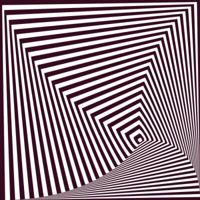 Adesivo Fundo abstrato piramidal listrado abstrato. Ilusão óptica t