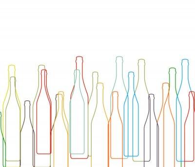 Adesivo Fundo com garrafas definido